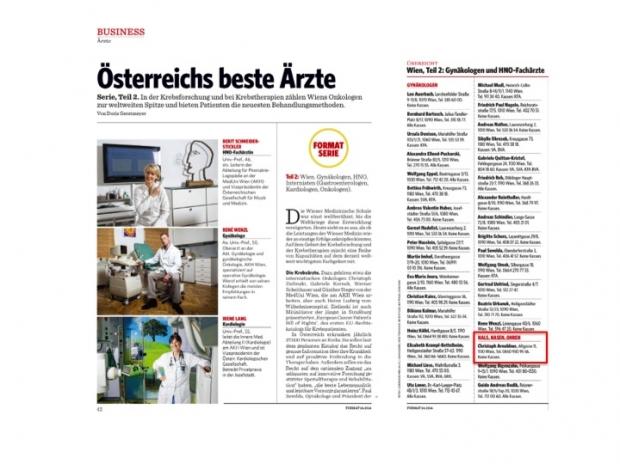 News 10/2013 - Die besten HNO Ärzte Österreichs