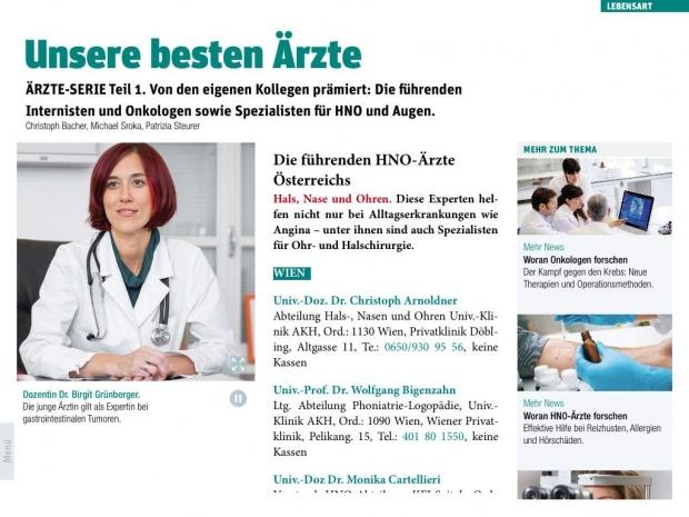 Format 06/2014  Die besten Ärzte Österreichs