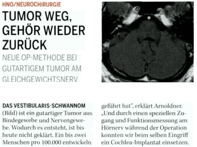 HNO / Chirurgie - Tumor weg, Gehör wieder zurück